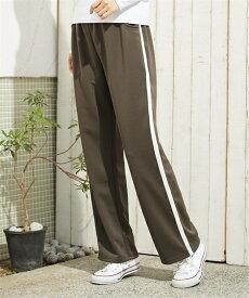 パンツ ストレート 大きいサイズ レディース ジャージ カーキ/ネイビー/黒 L〜10L ニッセン nissen