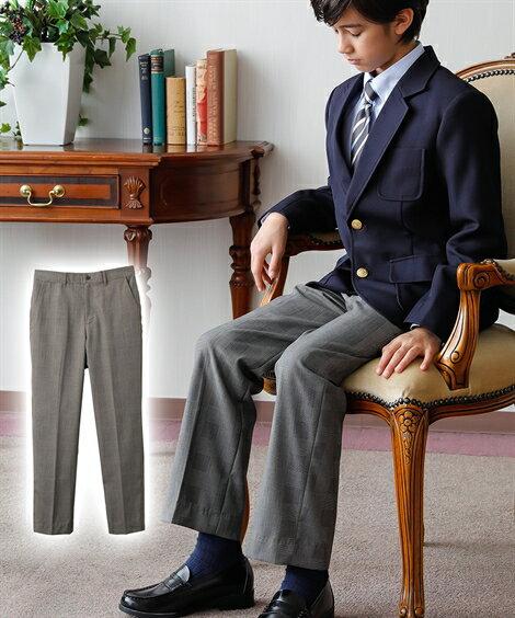 アウター キッズ 卒業式 フォーマルロングパンツ(男の子 子供服 ジュニア服) 春 フォーマル ウェア スーツ グレンチェック 身長140/150/160cm ニッセン