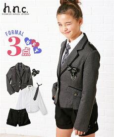aa54893056811 スーツ フォーマル キッズ 卒業式 ヒロミチナカノ 3点セット ジャケット + ブラウス ショート パンツ 女の子