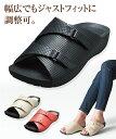 AKAISHI 靴 レディース アーチフィッター141アーチ クッション サンダル アイボリー/ブラック/レッド 22.0〜22.5/23.0…