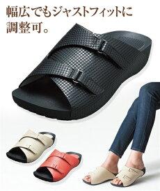 AKAISHI 靴 レディース アーチフィッター141アーチ クッション サンダル アイボリー/ブラック/レッド 22.0〜22.5/23.0〜23.5/24.0〜24.5cm ニッセン nissen