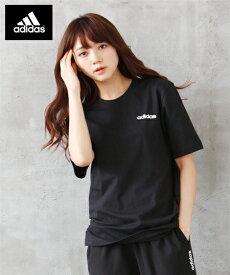 adidas スポーツウェア トップス 大きいサイズ レディース 綿100% ベーシック Tシャツ 年中 ネイビー/ブラック/ホワイト M〜6L ニッセン