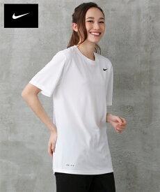 ナイキ スポーツウェア トップス 大きいサイズ レディース レジェンド Tシャツ ユニセックス 年中 オフホワイト/ブラック M〜5L ニッセン