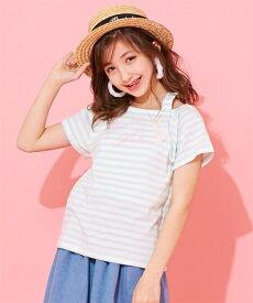 d74a6dd5cbfc1 Tシャツ カットソー キッズ ボーダーオフ ショルダー 女の子 子供服・ジュニア服 トップス ピンク