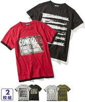 8f348760cfaca PR Tシャツ カットソー キッズ 重ね着風 半袖 2枚組 男の子 子供.