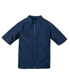 水着 スクール キッズ 半袖 ラッシュガード 男の子 女の子 スポーツウェア 紺 身長120〜170cm ニッセン