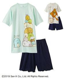 4f76831db8fb7 パジャマ キッズ すみっコぐらし リラックマ BIG-T 半袖 ルームウエア 女の子 子供服