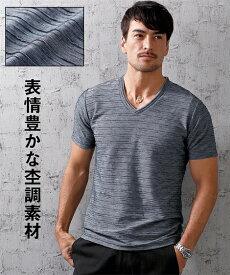 Tシャツ カットソー 大きいサイズ カジュアル メンズ フェイクレイヤードVネック 半袖 トップス エンジ系/黒/紺系/白 6L/7L/8L/10L ニッセン