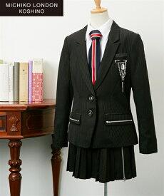 スーツ フォーマル キッズ ミチコロンドン ジャケット + スカート ブラウス 女の子 子供服 ジュニア服 ウェア ブラック 身長140/150/160cm ニッセン