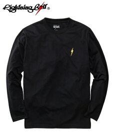 Tシャツ カットソー カジュアル メンズ デザイン Lightning Bolt ライトニングボルト ワンポイント プリント 長袖 トップス カーキ〜杢グレー M/L/LL ニッセン