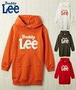 BUDDY Lee ワンピース キッズ Buddy Lee 裏毛フード付き 女の子 ベビー 服 子供服 チュニック オレンジ/キナリ/チャコ…