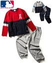 パジャマ キッズ MLB ニット キルト 長袖 男の子 女の子 子供服 ジュニア服 グレー ヤンキース /レッド エンゼルス 身…
