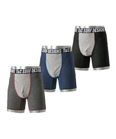 パンツ ボクサー 大きいサイズ メンズ T&C 前開き ロング 3枚組 肌着 ボトム 3枚組 3L/4L/5L ニッセン
