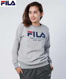 FILA スポーツウェア トップス 大きいサイズ レディース スウェット チュニック ネイビー/杢グレー M/L/LL ニッセン