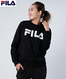 FILA スポーツウェア トップス 大きいサイズ レディース スウェット ポケット付き トレーナー ネイビー/ブラック M/L/LL ニッセン