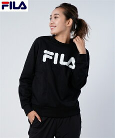 FILA スポーツウェア トップス 大きいサイズ レディース スウェット ポケット付き トレーナー ネイビー/ブラック 6L/8L/10L ニッセン