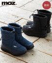 靴 レディース MOZ 防水 ブーツ ワイズ3E ダークグレー/ネイビー 22.5/23/23.5/24/24.5cm ニッセン