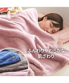 毛布 カラー が選べるふんわりシープ調ボア 年中 グレー/ネイビー/ピンク/ブラウン シングル ニッセン