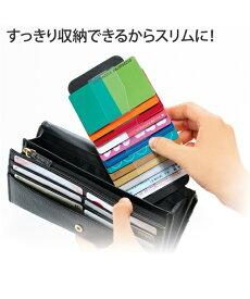カードケース 長 財布 に入れる カード ケース 収納 便利 アイボリー/ブラック 1個 ニッセン