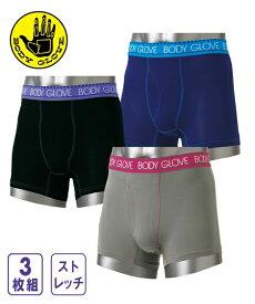 パンツ ボクサー 大きいサイズ メンズ BODY GLOVE ボディー グローブ ストレッチ 3枚組 肌着 ボトム 3枚組 6L/7L/8L/10L ニッセン