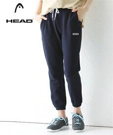 HEAD スポーツウェア ボトムス 大きいサイズ レディース 綿100% ジョガー パンツ グレー/ネイビー 3L/4L/5L ニッセン