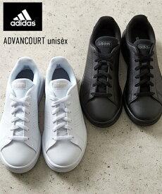 スニーカー adidas レディース ADVANCOURT ユニセックス コアブラック/テックインディゴ/フットウェアホワイト 22〜30cm ニッセン nissen
