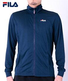 FILA スポーツウェア メンズ 吸汗速乾 UV メッシュ スタンド ジャケット 夏 ネイビー/ブラック/ホワイト 3L/4L/5L ニッセン nissen