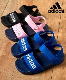 adidas サンダル キッズ ADIETTE SANDAL K 男の子 女の子 トゥルーピンク/ブラック/ロイヤルブルー 17/18/19/20/21cm ニッセン