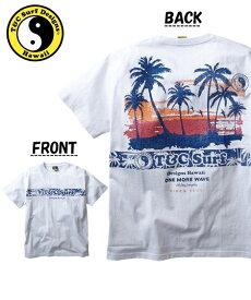 Tシャツ カットソー メンズ T&C Surf Designs タウン&カントリー 綿100% プリント 半袖 ブラック/ホワイト/レッド M/L/LL ニッセン