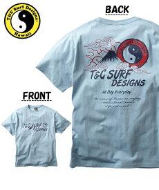 Tシャツ カットソー メンズ T&C Surf Designs タウン&カントリー 綿100% プリント 半袖 サックス/ブラック/ホワイト M/L/LL ニッセン