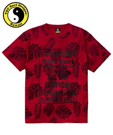 Tシャツ カットソー メンズ T&C Surf Designs タウン&カントリー 綿100% 総柄 プリント 半袖 ネイビー/レッド M/L/LL ニッセン nissen