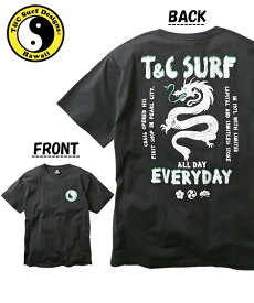 Tシャツ カットソー メンズ T&C Surf Designs タウン&カントリー 綿100% プリント 半袖 ブラック/ブルー M/L/LL ニッセン