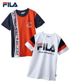FILA スポーツウェア トップス 半袖 Tシャツ 女の子 子供服 ジュニア服 ネイビー/ホワイト 身長130/140/150/160cm ニッセン
