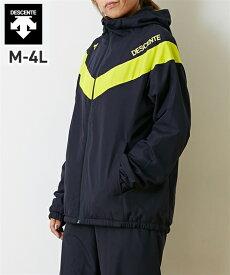 スポーツウェア メンズ DESCENTE 防風 はっ水 ウインド ジャケット ユニセックス 冬 ネイビー×イエロー/ブラック×ホワイト M/L/LL/3L/4L ニッセン nissen