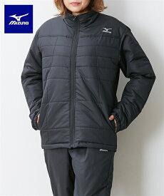 MIZUNO スポーツウェア メンズ 中綿 ウォーマー シャツ 男女兼用 ディープネイビー杢×ブラック/ブラック×ブラック 3L/4L/5L/6L ニッセン nissen