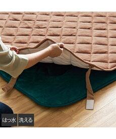 こたつ敷布団カバー はっ水加工付 洗える なめらか フランネル ネイビー/ピーコックグリーン/ブラウン 正方形 192×192cm ニッセン