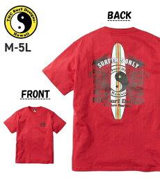 Tシャツ カットソー メンズ T&C Surf Designs T&Cサーフデザイン 50周年記念企画 綿100% サーフ プリント 半袖 クルーネック ネイビー/ブラック/レッド 3L/4L/5L ニッセン nissen