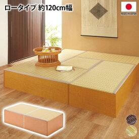 ニッセン nissen 樹脂畳ユニット ロータイプ 120cm幅 お手入れしやすい ソファー ソファ 畳ユニット 樹脂畳 ロータイプ 収納 送料無料