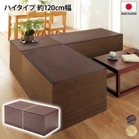 ニッセン nissen 樹脂畳ユニット ハイタイプ 120cm幅 お手入れしやすい ソファー ソファ 畳ユニット 樹脂畳 ハイタイプ 収納 送料無料