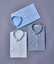 セットでお買い得! 半袖ワイシャツ3枚セット メンズ S-8L ボタンダウン 抗菌防臭・形態安定ワイシャツ3枚組(標準シルエット) 大きいサイズ ニッセン 【ポイント倍付け中!】