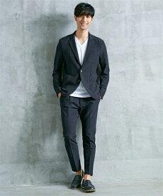 セットアップスーツ メンズ M-4L ストレッチ素材セットアップスーツ(ジャケット+パンツ) 大きいサイズ メンズ 上下セットでお買い得! ビジカジ ニッセン 【送料無料】 【ポイント倍付け中!】