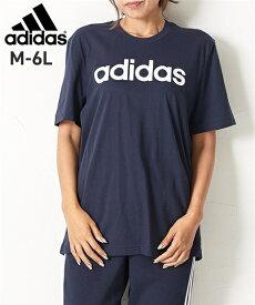 【スポーツ】 アディダス(adidas) リニアロゴTシャツ(男女兼用) メンズ レディス M-6L 大きいサイズ メンズ トップス Tシャツ ニッセン 【brand】 【ポイント倍付け中!】