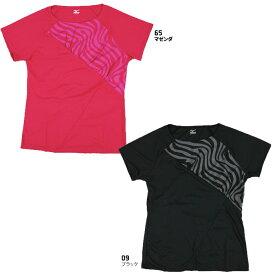 60%OFF ミズノ ドライサイエンス/ランニングTシャツ(レディース) A77TF290 ブラック ピンク 半そで ゼブラ柄 【店頭受取対応商品】【RSP】【ラッキーシール対応】[LADY60DO][SALE][U-50]