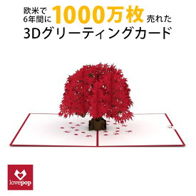 Lovepopカード精密3Dポップアップカード Japanese Maple紅葉