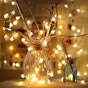 LEDライト イルミネーション USB給電 クリスマスLED パーティ用電飾 ライト led イルミネーション 3m 電球色 クリスマ…