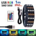 LED テープライト USB対応 防水 1m SMD5050 5V LEDテープ RGB 車用 間接照明 棚下照明 テレビの背景照明用LED