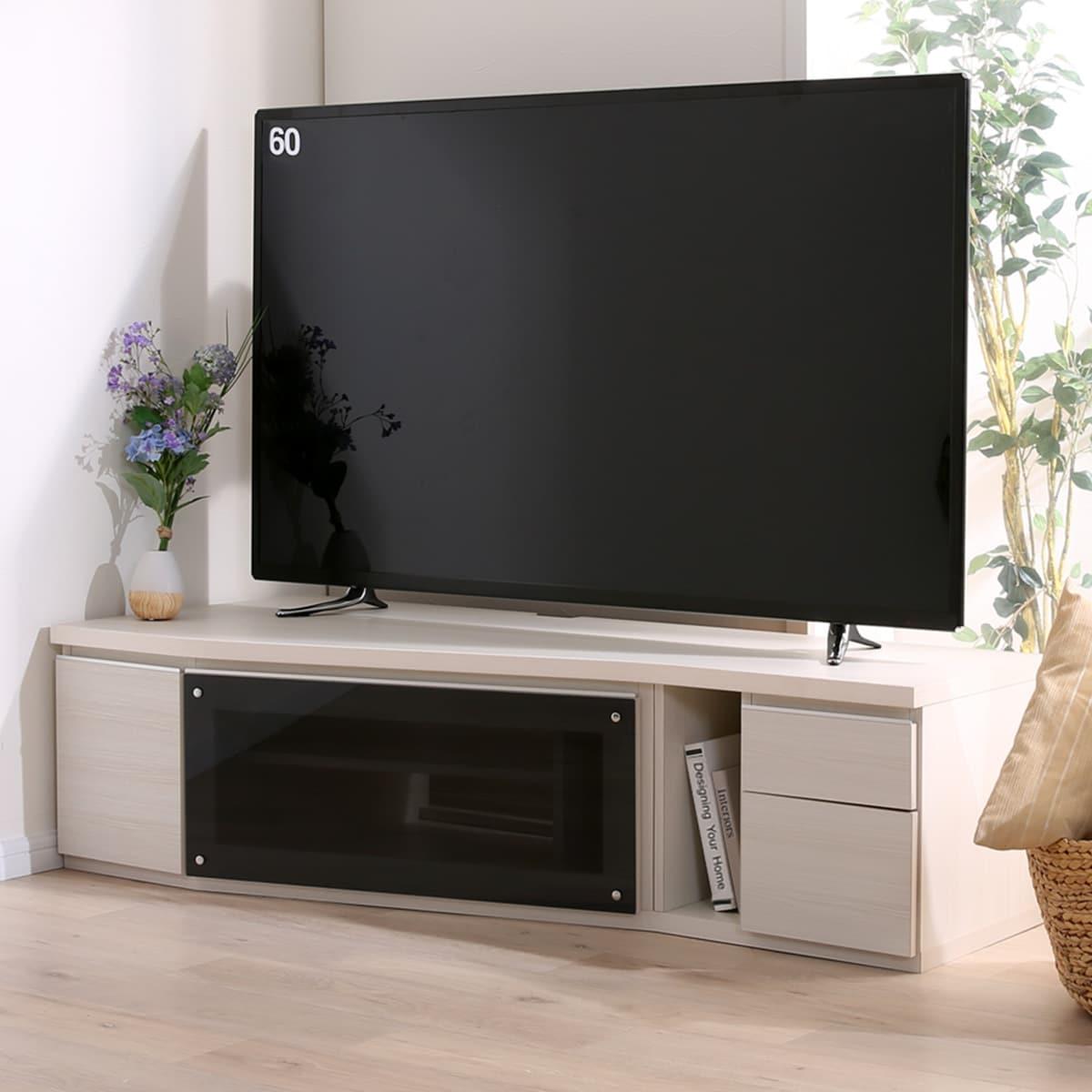 コーナーテレビボード(セラ 150WW ヒダリ) 【配送員設置】 【5年保証】