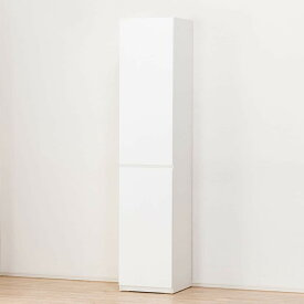 美しい光沢の壁面収納シリーズ キャビネット(ポルテ 40DD-L WH) ニトリ 【完成品・配送員設置】 【5年保証】