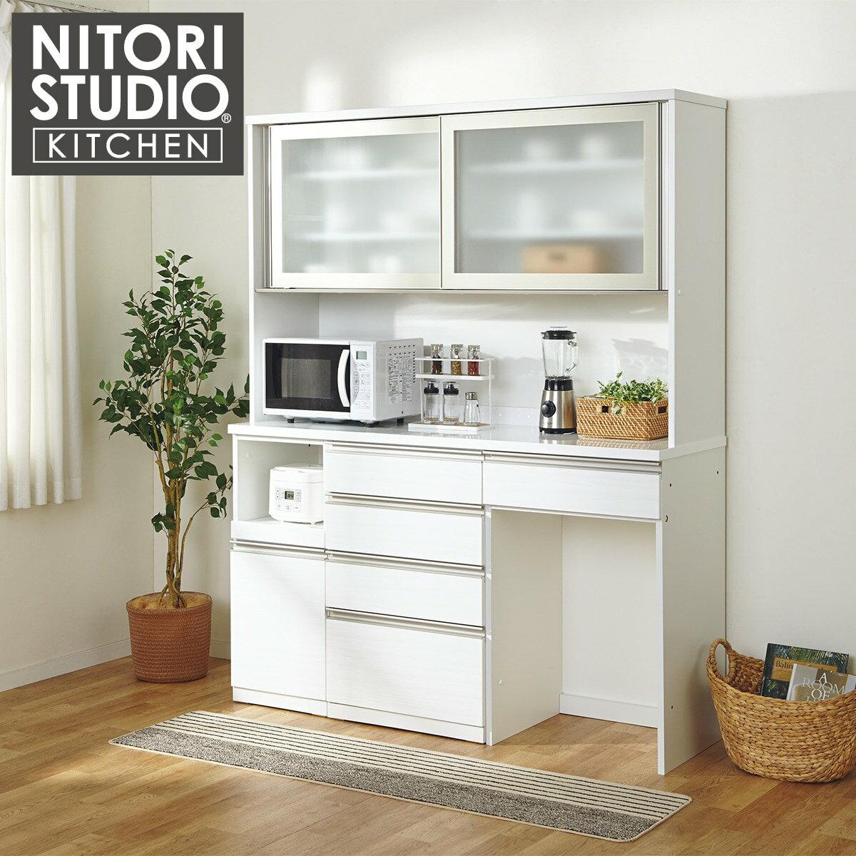 ユニットキッチンボード(リガーレ160KB WH) ニトリ 【完成品・配送員設置】 【5年保証】