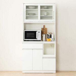 [幅90cm] キッチンボード(レジューム 90TG-S WH/90TL-R WH) ニトリ 【配送員設置】 【5年保証】